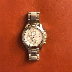 Men's fossil stainless steal watch